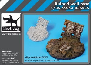 BLACK DOG D35035 - 1:35 Ruined wall - base