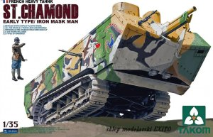 TAKOM 2002 - 1:35 French Heavy Tank St.Chamond - Early Type / Iron Mask Man