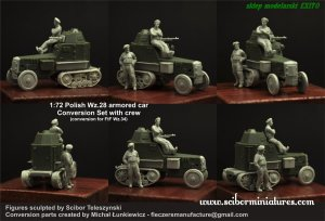 SCIBOR MINIATURES 72HM0029 - 1:72 Polish Wz.28 Conversion with Crew