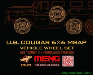 MENG MODEL SPS024 - 1:35 US Cougar 6x6 MRAP Vehicle Wheel Set