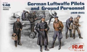 ICM 48082 - 1:48 German Luftwaffe Pilots and Ground Personnel (1939-1945)
