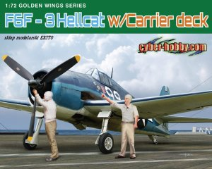 DRAGON / CYBER HOBBY 5117 - 1:72 F6F-3 Hellcat with Carrier Deck