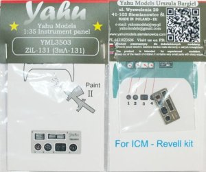 YAHU YML3503 - 1:35 ZiL-131 - Instrument Panel
