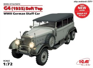 ICM 72472 - 1:72 G4 Soft Top (1935 production) WWII German Staff Car