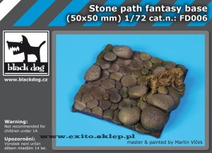 BLACK DOG FD006 - Stone path fantasy base 50x50 mm