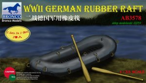 BRONCO AB 3578 - 1:35 WWII German Rubber Raft  x2