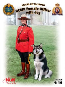 ICM 16008 - 1:16 RCMP Female Officer with dog