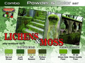 LIFECOLOR SPG 06 - Lichens & Moss - Powder & Color Set