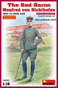 MINIART 16032 - 1:16 The Red Baron. Manfred von Richthofen.WW1 Flying Ace
