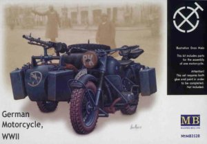 MASTER BOX 3528 - 1:35 German motorcycle BMW R75 WWII