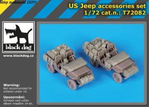 BLACK DOG T72082 - 1:72 US Jeep accessories set