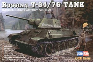 HOBBY BOSS 84808 - 1:48 Russian T-34/76 (model 1943 Factory No.112) Tank