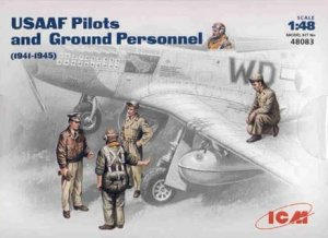 ICM 48083 - 1:48 USAAF Pilots and Ground Personnel (1941-1945)