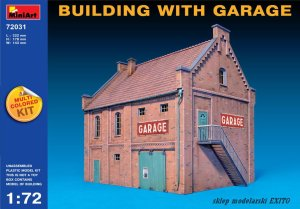 MINIART 72031 - 1:72 Building with Garage - multicolored kit