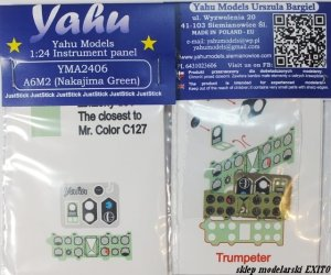 YAHU YMA2406 - 1:24 A6M2 ( Nakajima Green ) - Instrument Panel