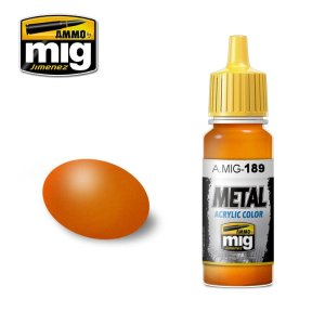 AMMO MIG 189 - Metallic Orange - farba akrylowa metaliczna 17ml