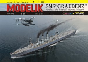 MODELIK 1610 - 1:200 SMS Graudenz - WW I German light cruiser