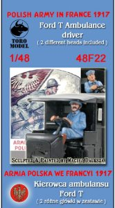 TORO MODEL 48F22 - 1:48 Polish Army in France 1917 - Ford T Ambulance driver