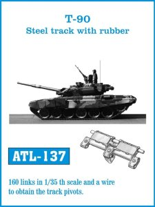 FRIULMODEL ATL 137 - 1:35 T-90 Steel track with rubber