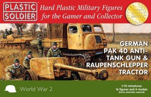 PLASTIC SOLDIER G20005 - 1:72 German Pak 40 AT Gun & Raupenschlepper Tractor