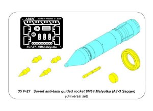 ABER 35P27  - 1:35 Soviet anti-tank guided rocket 9M14 Malyutka (AT-3 Sagger)