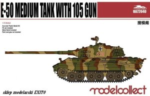 MODELCOLLECT UA72040 - 1:72 WWII E-50 Medium Tank with 105 Gun