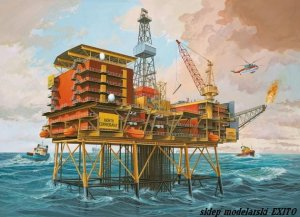 REVELL 08803 - 1:200 Off-Shore Oilrig North Cormorant