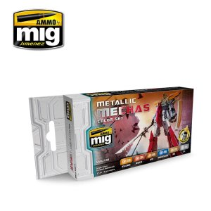 AMMO MIG 7158 - Metallic Mechas Color Set