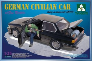 TAKOM 2005 - 1:35 German Civilian Car with Gas Rockets w/ figure