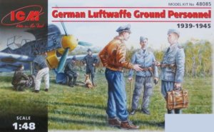 ICM 48085 - 1:48 German Luftwaffe Ground Personnel (1939-1945)