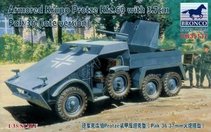 BRONCO CB 35132 - 1:35 Armored Krupp Protze Kfz.69 with 3.7cm Pak 36 (late version)