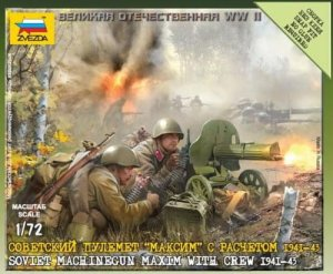 ZVEZDA 6104 - 1:72 Soviet Machinegun Maxim with Crew 1941-43
