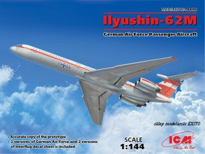 ICM 14406 - 1:144 Ilyushin - 62M German Air Force Passenger Aircraft
