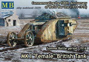 MASTER BOX 72002 - 1:72 MK I  Female - British Tank - Somme Battle period, 1916