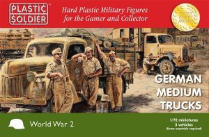 PLASTIC SOLDIER V20020 - 1:72 German Medium Trucks