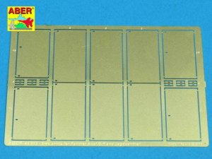 ABER 48013 - 1:48 Side skirts for Panther Ausf.G and Jagdpanther