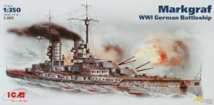 ICM S.005 - 1:350 Markgraf, WWI German Battleship