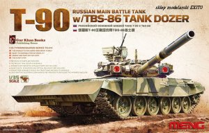 MENG MODEL TS014 - 1:35 T-90 Russian Main Battle Tank w/ TBS-86 Tank Dozer