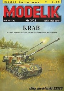 MODELIK 0203 - 1:25 Krab - Polish self-propelled howitzer 155 mm