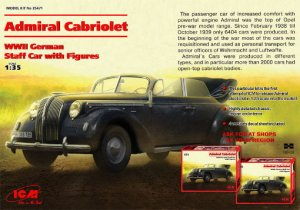 ICM 35471 - 1:35 Admiral Cabriolet - WWII German Staff Car with Figures