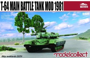 MODELCOLLECT UA72014 - 1:72 T-64 Main Battle Tank Mod 1981