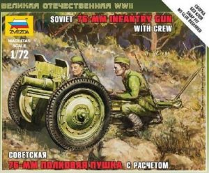 ZVEZDA 6145 - 1:72 Soviet 76-mm Infantry Gun with crew