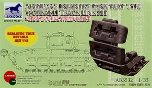 BRONCO AB 3532 - 1:35 Matilda 2 Flat Type Workable Track Link Set