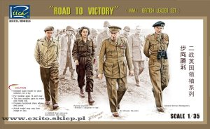 RIICH MODELS 35023 - 1:35 Road to Victory - WWII British Leader Set