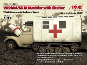 ICM 35414 - 1:35 V3000S/SS M Maultier with Shelter - WWII German Ambulance Truck