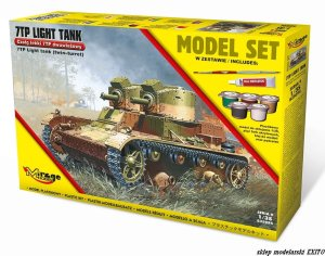 MIRAGE 835094 - 1:35 Polish Light Tank 7TP Twin Turret - Model Set