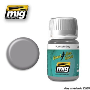 AMMO MIG 1600 - Panel Line Wash - Light Grey