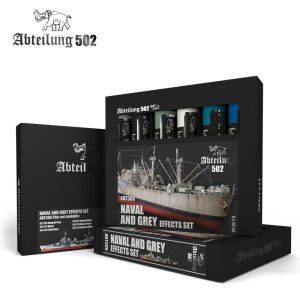 ABTEILUNG 502 ABT306 - Naval and Grey Effects Set 6 x 20 ml
