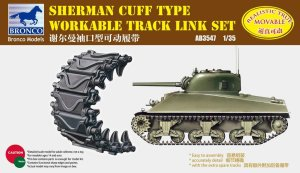 BRONCO AB 3547 - 1:35 Sherman Cuff Type Workable Track Link Set