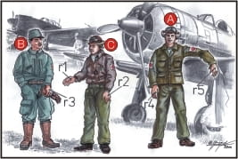 CMK F72042 - 1:72 WW II Japanese Army Pilots & Mechanics